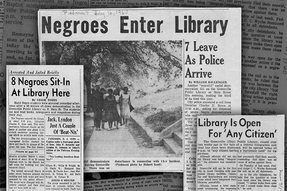 Image result for Tougaloo Nine Mississippi students public library
